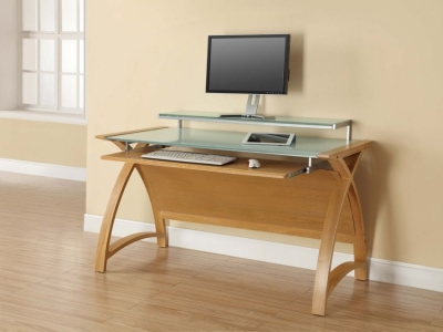 Jual Curve Oak Computer Desk PC201 1300
