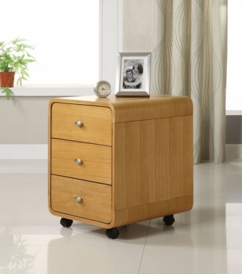 Jual Curve Oak 3 Drawer Pedestal PC201 3DR