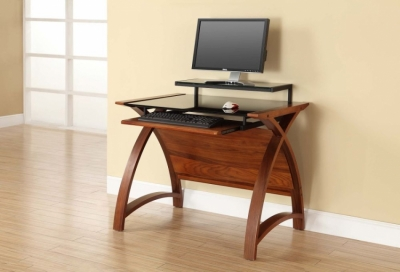 Jual Curve Walnut Computer Desk PC201 900