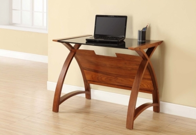 Jual Curve Walnut Laptop Table PC201 900LT