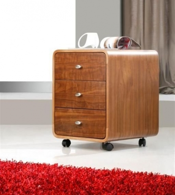 Jual Curve Walnut Pedestal - 3 Drawers PC201 3DR