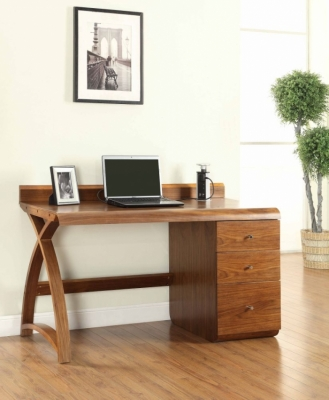 Jual Curve Walnut Pedestal Desk - 3 Drawers PC601