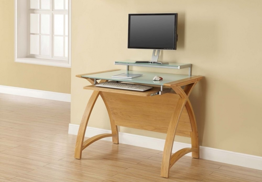 Jual Curve Oak Computer Desk PC201 900