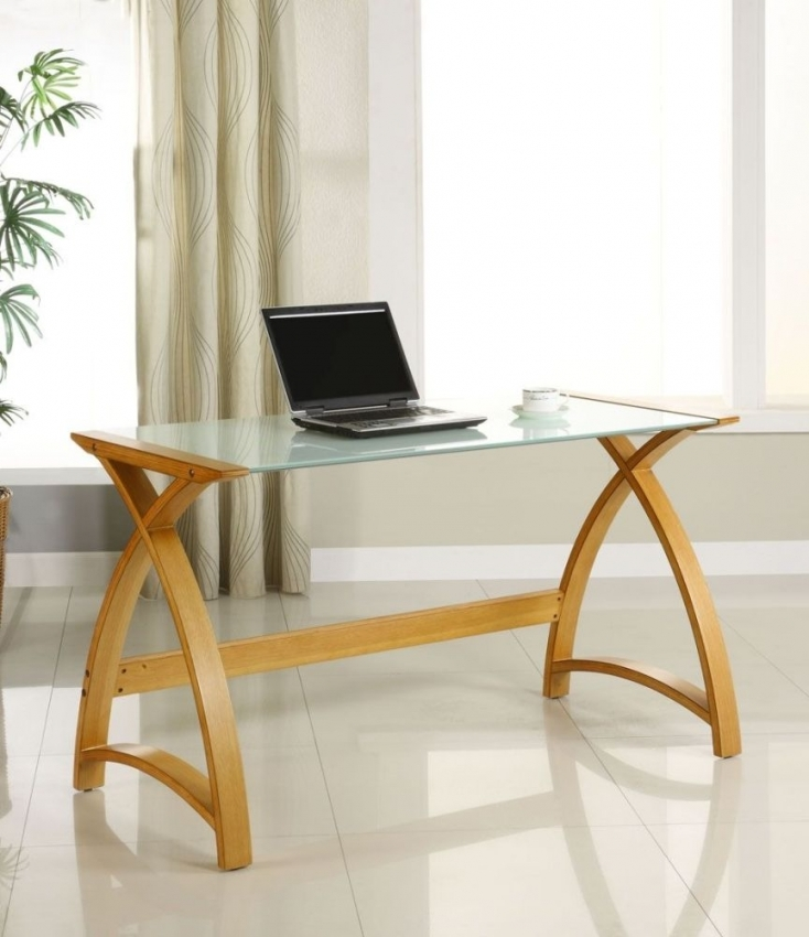 Jual Curve Oak Laptop Table PC201 1300LT