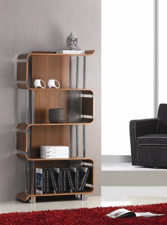 Jual Curve Walnut Bookshelf BS201