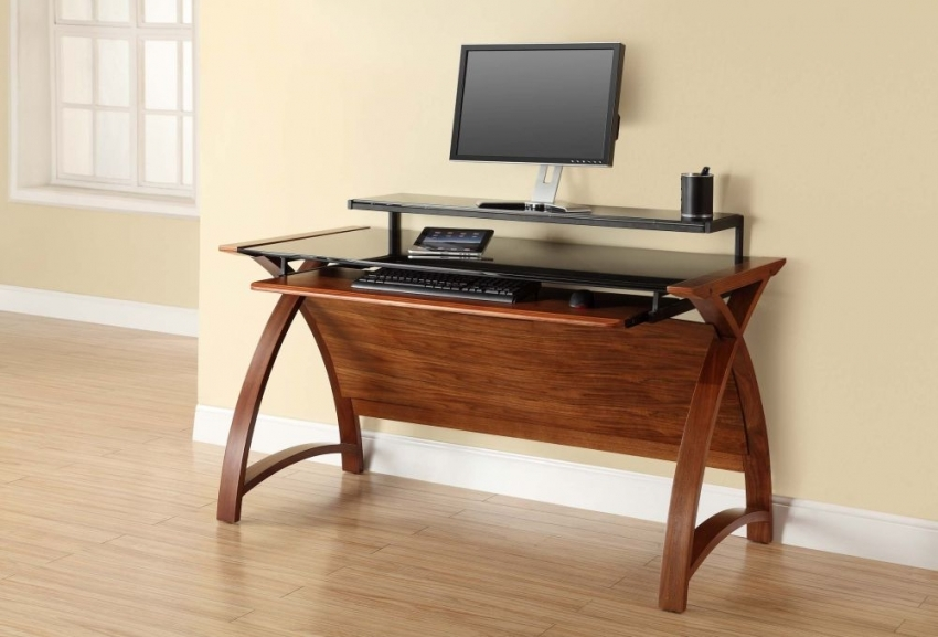 Jual Curve Walnut Computer Desk Pc201 1300 Jual Furnishings