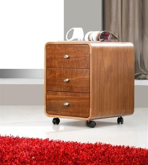 Jual Curve Walnut 3 Drawer Pedestal PC201 3DR
