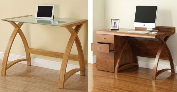 Jual Curve Oak and Walnut Office Collection