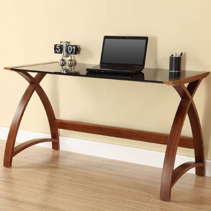 Jual Curve Walnut Laptop Table PC201 1300LT