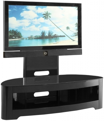 Jual Curve High Gloss Cantilever TV Stand JF209