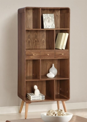Jual Walnut Bookcase Wide JF707