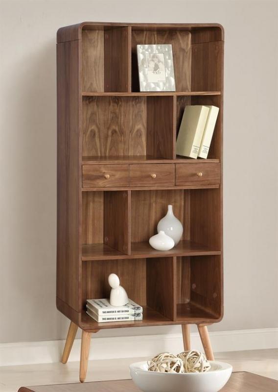 Jual Walnut Bookcase Wide JF707