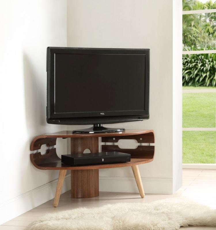 Jual Walnut Corner TV Stand JF701