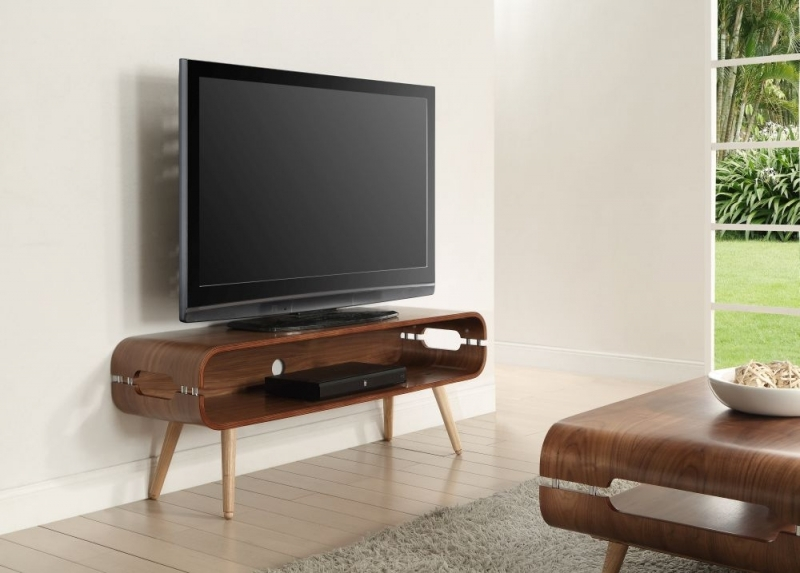 Jual Walnut Rectangular TV Stand JF702