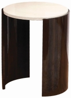 Jual Milan Walnut and Cream High Gloss Large Lamp Table JF903
