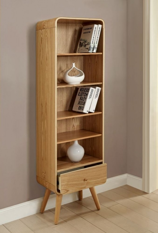 Jual Ash Bookcase - 1 Drawer 5 Shelves Tall PC703