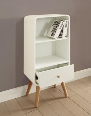 Jual White Bookcase - 1 Drawer 2 Shelves Short PC704