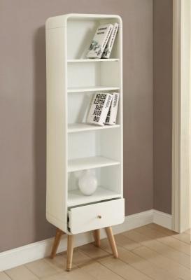 Jual White Bookcase - 1 Drawer 5 Shelves Tall PC703