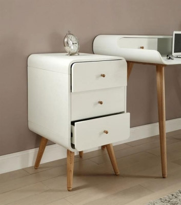 Jual White Pedestal - 3 Drawer PC705