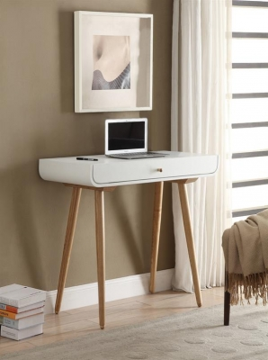 Jual White Spindle Desk - 1 Drawer PC708