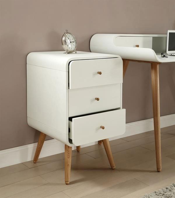 Jual White Pedestal - 3 Drawer PC705