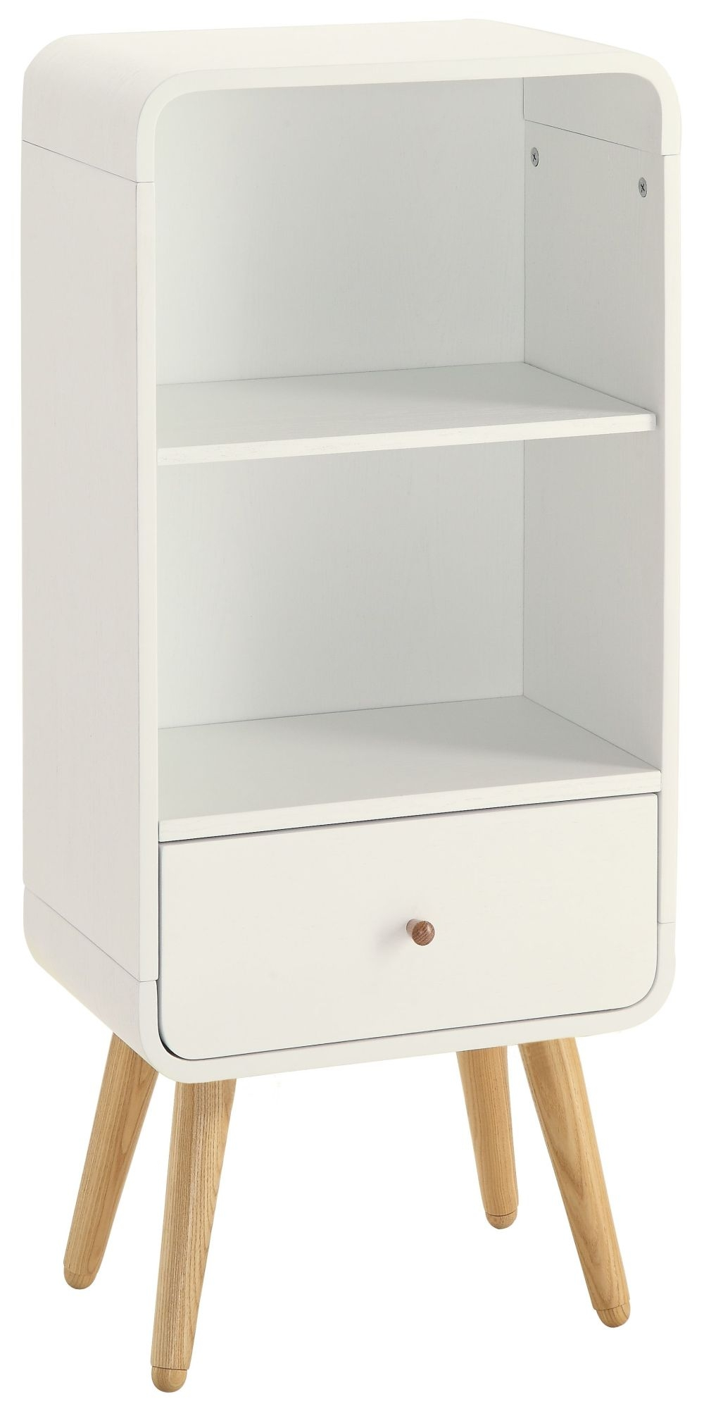 Jual White Bookcase - 1 Drawer 2 Shelves Short PC704