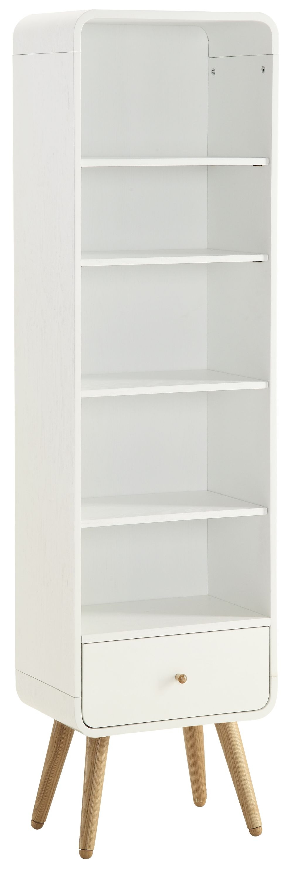 Jual White Bookcase - 1 Drawer 5 Shelves Tall PC703