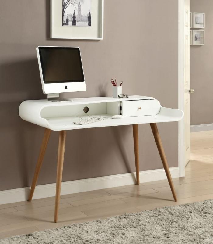 Jual White Tower Desk - 1 Drawer PC702