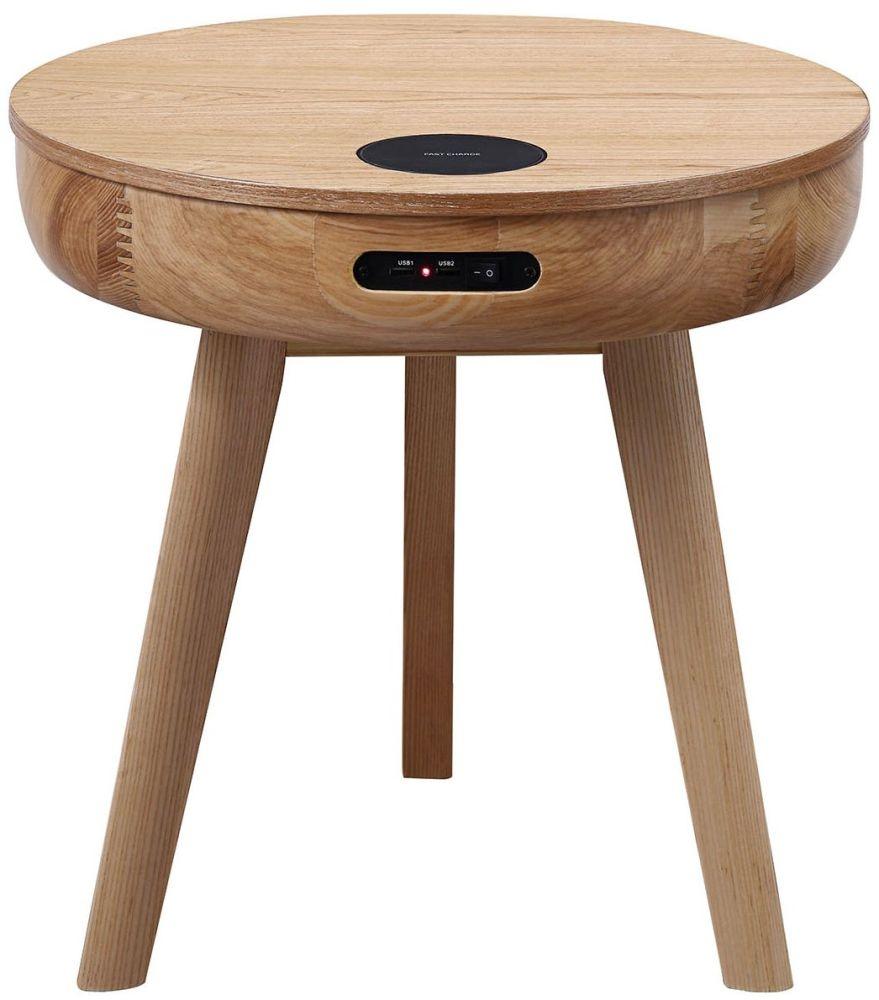 Jual San Francisco Ash Smart Lamp Table - JF710