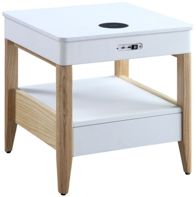Jual San Francisco White Ash Square Bedside Cabinet - JF401