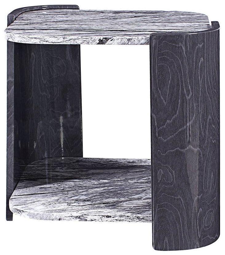 Jual Sorrento Grey Slate High Gloss Lamp Table JF908