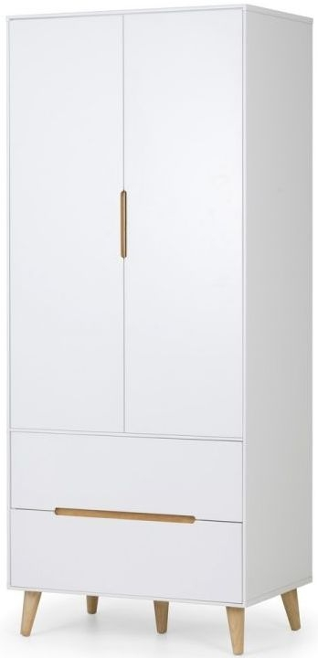 Julian Bowen Alicia Matt White 2 Door 2 Drawer Double Wardrobe