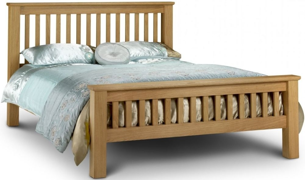 Julian Bowen Amsterdam Oak High Foot End Bed