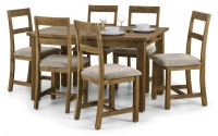 Julian Bowen Aspen Pine Extending Dining Table and 4 Chairs