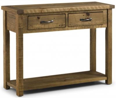 Julian Bowen Aspen Console Table with 2 Drawer