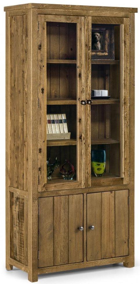 Julian Bowen Aspen Glazed Display Cabinet - 4 Door