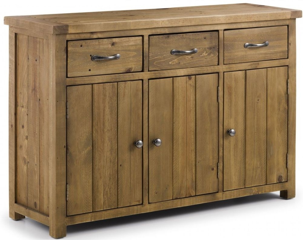 Julian Bowen Aspen 3 Door 3 Drawer Wide Sideboard