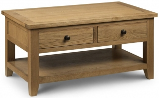 Julian Bowen Astoria Oak Coffee Table - 2 Drawers