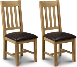 Julian Bowen Astoria Oak Dining Chair (Pair)