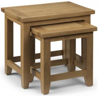 Julian Bowen Astoria Oak Nest of Tables