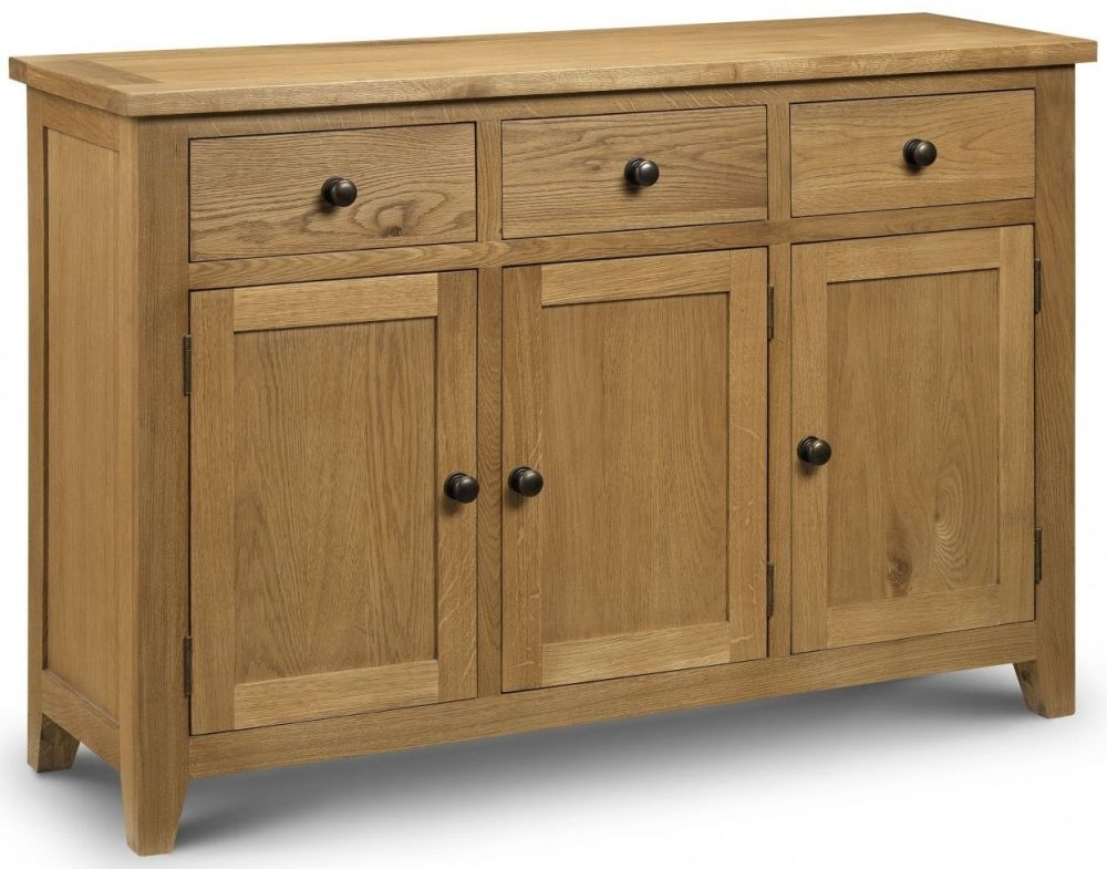 Julian Bowen Astoria Oak Sideboard - Medium 3 Door 3 Drawer