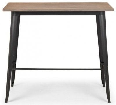 Julian Bowen Grafton Mocha and Black Bar Table
