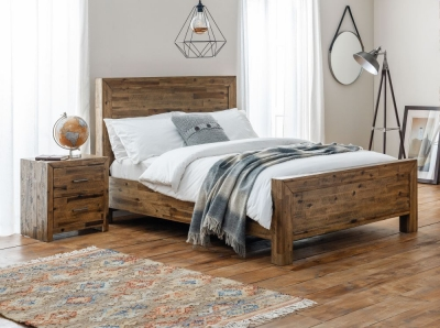 Julian Bowen Hoxton Rustic Oak Bed
