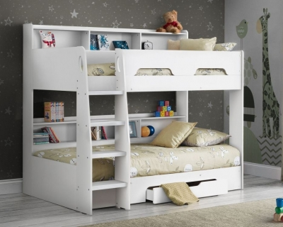 Julian Bowen Orion White Bunk Bed