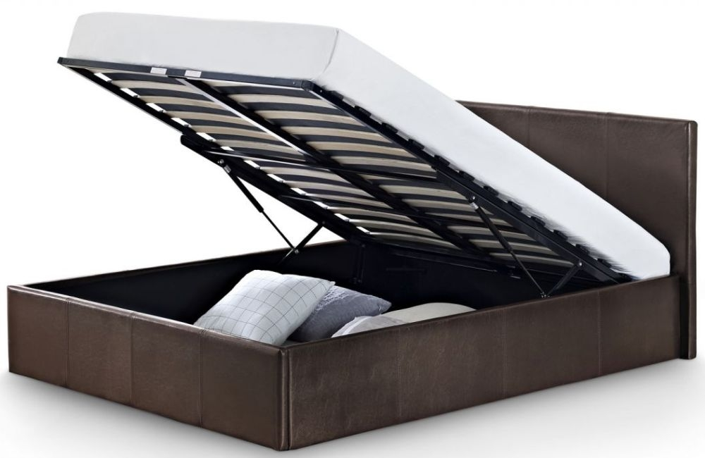 Julian Bowen Cosmo Lift Up Brown Storage Bed