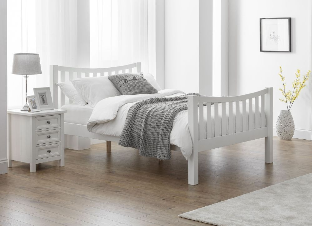 Julian Bowen Madison Surf White Curved Bed