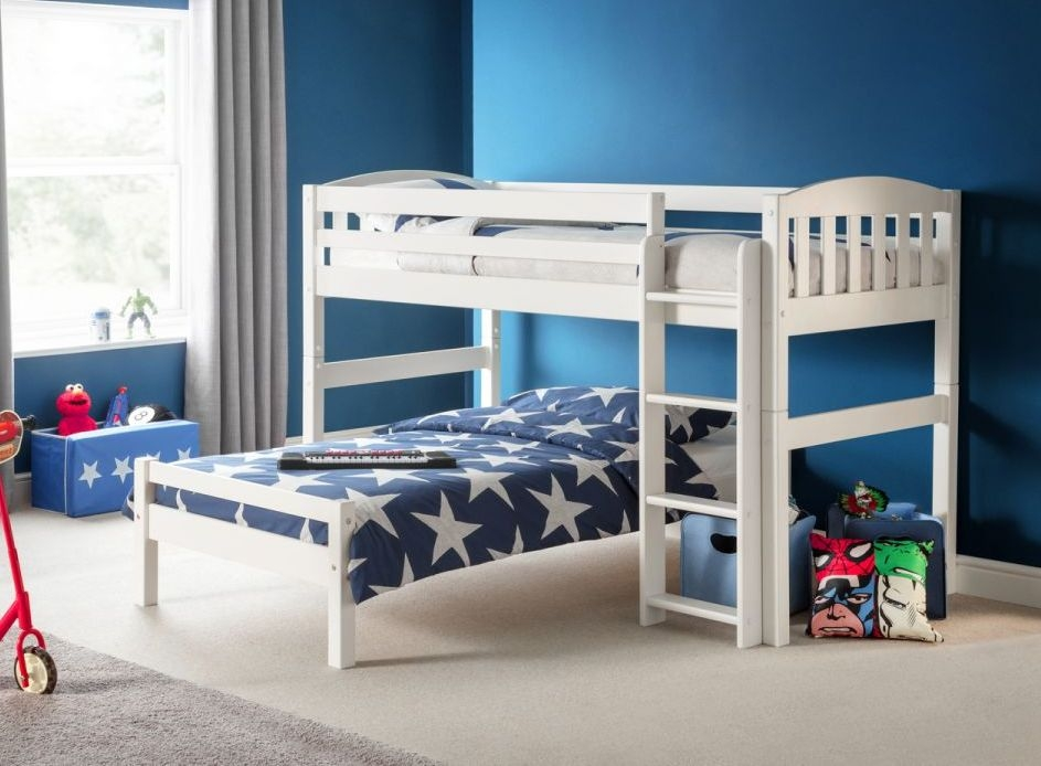 Julian Bowen Stone White Combination Bed