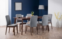 Julian Bowen Berkeley Walnut Dining Table and 6 Chairs
