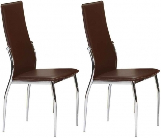 Julian Bowen Boston Faux Leather Dining Chair (Pair)