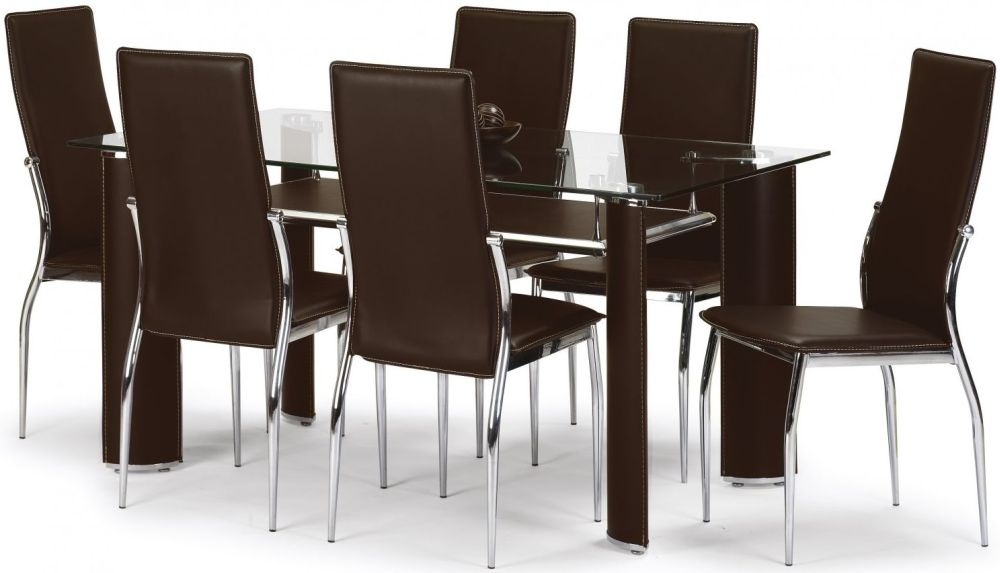 Julian Bowen Boston Dining Set - with 6 Chairs